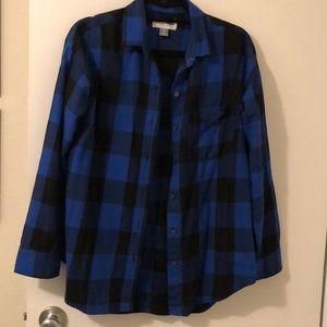 Old Navy Boyfriend Buffalo Checked Shirt, size XS